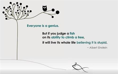 Albert Einstein - Fish in a Tree Quote