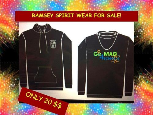 Our new Ramsey Spirit Wear is on sale most Thursdays and Friday.  Get yours today!