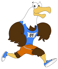 eagle running in running clothes