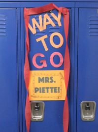 Decorate your child's locker to celebrate something fantastic!