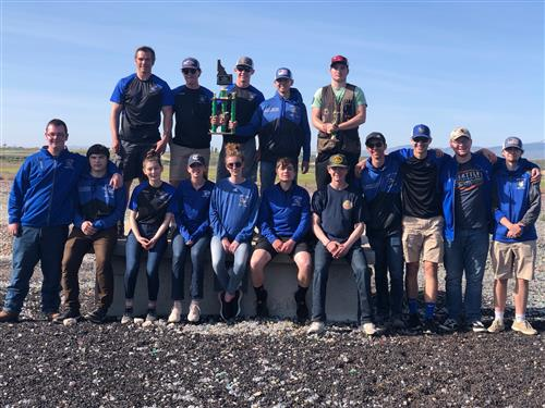 a picture of the 2018-2019 skeet and Trap team