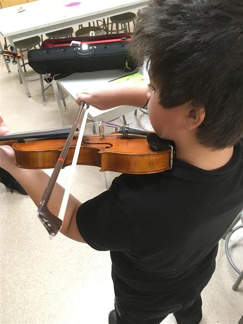 Strings is a program for 5th graders that is taught by Mrs. Phillips