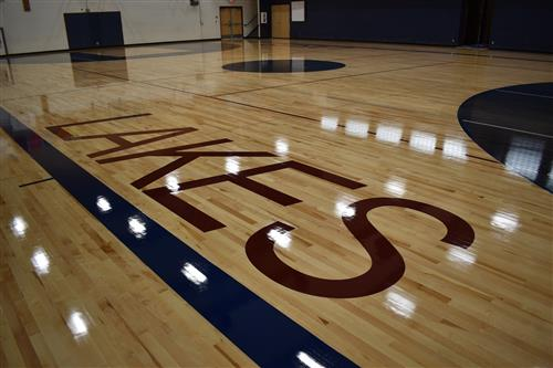 New gym floor at Lakes