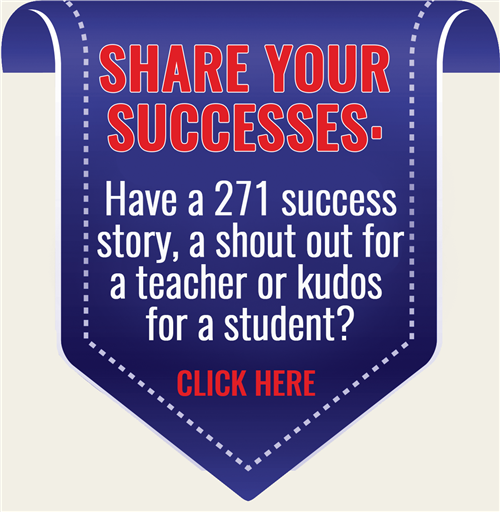 Share your news, kudos and successes about 271 student and staff with us!