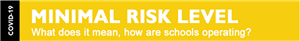 covid risk level yellow minimal image