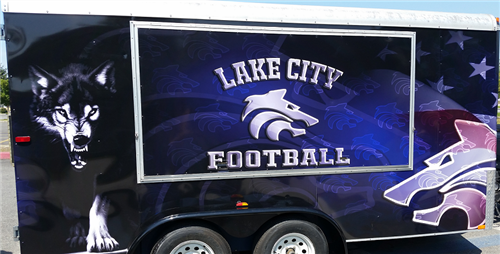 The Lake City High School Football Trailer